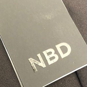NBD Dresses - NBD black dress halter mini NWT